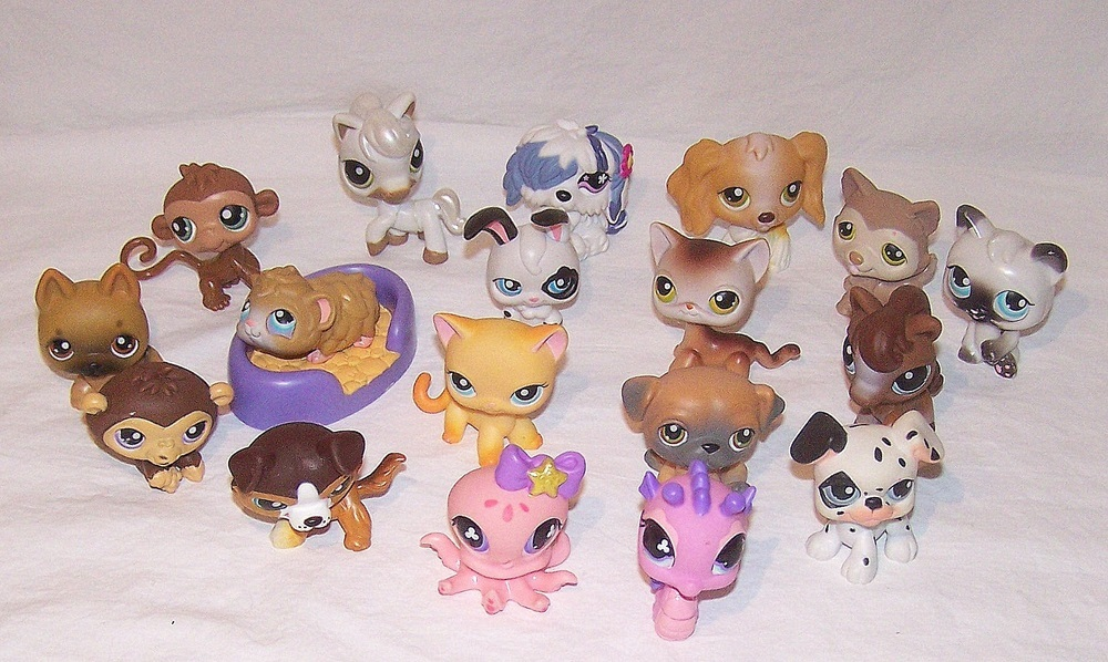 Littlest Pet Shop LPS Figurine Animal Pets Toys Bobble Heads Cats Dogs Lot