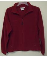Womens Columbia Sportswear Red Long Sleeve Full Zipper Fleece Jacket Size XL - $19.00