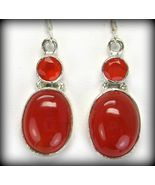Oval Cabochon + Faceted Circle of Carnelian Ste... - $82.84