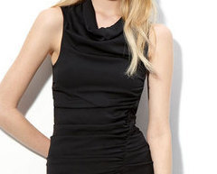 Ace Delivery Black Ruched Mini sz L Dress 300 dresses