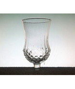 Home Interiors Sconce Votive Cups Glass Large Diamond Crystal - $7.99