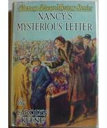 Nancy Drew #8 NANCY'S MYSTERIOUS LETTER hcdj 19... - $100.00