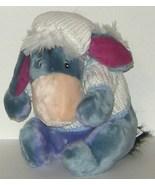1/2 off! Disney Blue Eeyore Plush White Knit Sw... - $5.00