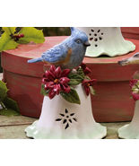 Ceramic Bird Bell Collectible Blue Jay New - $10.95
