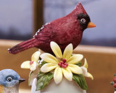 Ceramic Bird Bell Collectible Cardinal New