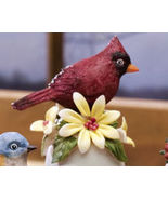 Ceramic Bird Bell Collectible Cardinal New - $10.95