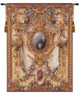 78x59 French Court of Arms Tapestry Wall Hanging - $675.00