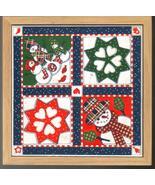 Holiday Ceramic Tile Trivet Snowman Quilt Pattern - $7.99
