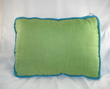 Buy NEWPORT-LIME GREEN AND TURQUOISE LINEN RECTANGULAR PILLOW