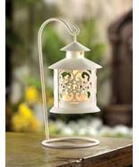 12775 White Filigree Candle Lantern ~FS - $19.50