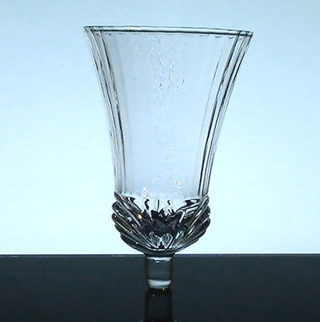 Home Interiors Peg Votive Holder Clear Flared Renaissance