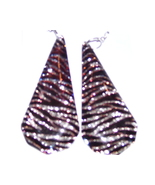 ZEBRA PRINT TEARDROP EARRINGS - $3.15