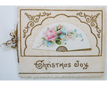 Buy Victorian Christmas greeting card Whitney fan rose die cut e