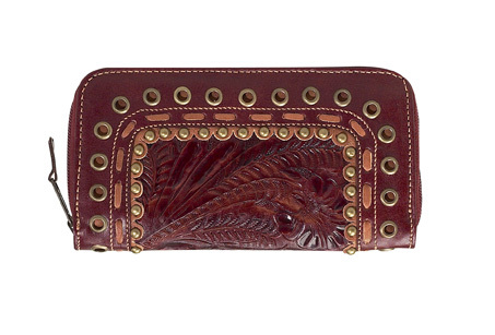 Brand New - American West Leather Zip-Around Wallet - Sedona - Idalou - Bonanzle from bonanzle.com
