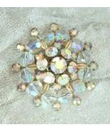 Elegant Aurora Borealis Rhinestone & Cut Glass ... - $19.95