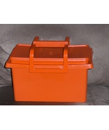 Tupperware Carry All Craft Tote Orange - $19.97