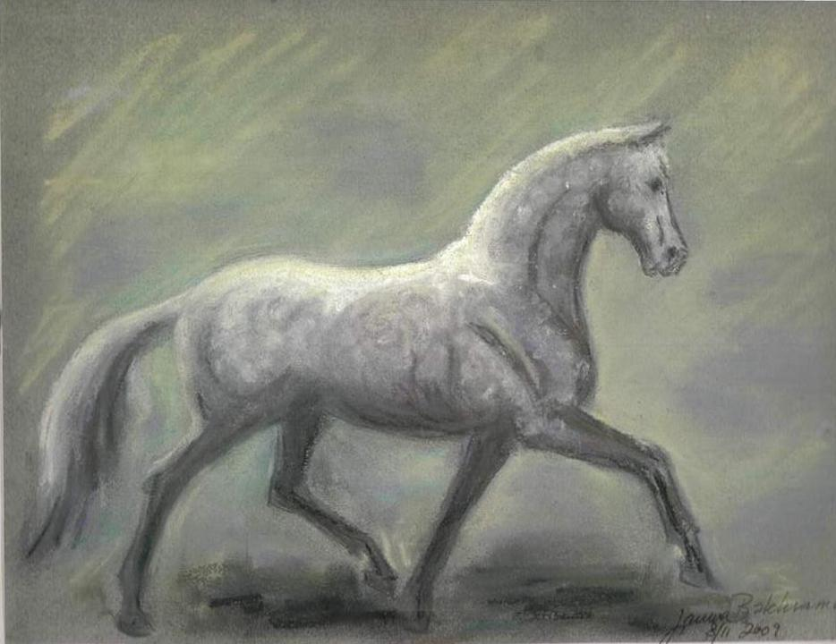 Gray_horse_facing_right_of_paper