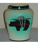 Nandi Signed Native American Heartline Bear Vase - $50.00