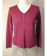 Charter Club Regent Street Boysenberry Knit Top... - $17.00