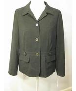 JM Collection Black Ultrasuede Blazer Size 14 NWT - $27.00