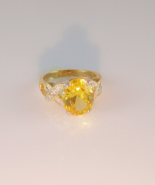 Golden Topaz Ladies Fashion Ring Size 8 - $25.00