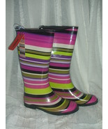 Missoni for Target Magenta Stripe Girls Rain Boot  size 3