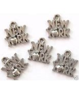5 New York Big Apple Pewter Charms Wholesale Lot - $9.99