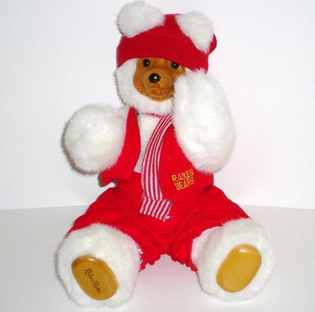Raikes Bears Santa's Elf Red 1989