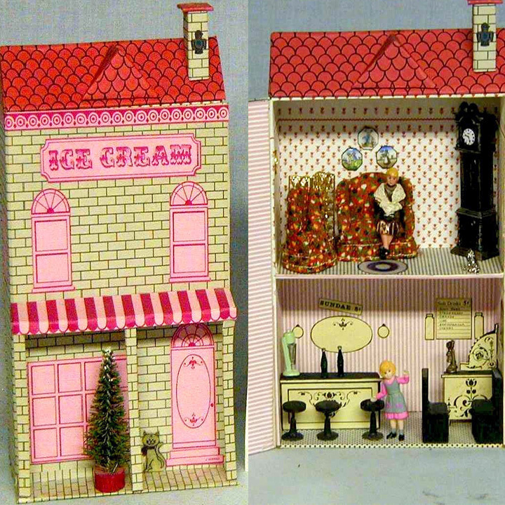 Miniature Dollhouse - Ice Cream Parlor