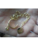 Gold Heart Anklet and Toe Ring Jewelry    Sold - $15.00