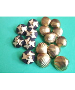 Bag of  Decorative  Buttons 2 styles 16 items - $3.49
