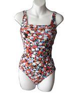 US 10 GB 12 Gottex One Piece Swimsuit Mosaic Bl... - $24.99
