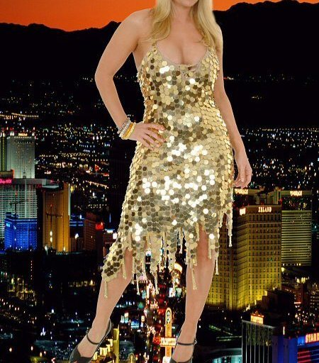 Glamorous Sequins Pallet Dress - Stretchy Fabric ~ Color: BLACK