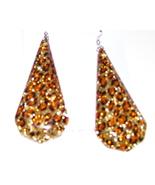 Animal print teardrop earrings - $3.15