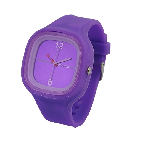 Jelly Silicone Sports Unisex Wrist Watch Purple