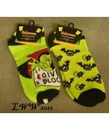 2 pair Vampire Bat Cat Halloween Ladies Socks L... - $5.99