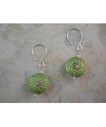 Green Cloisonné Enamel and Crystal Chrysanthemu... - $20.00
