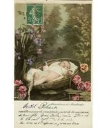 Edwardian BABY Birth ANNOUNCEMENT FRENCH postca... - $9.99