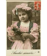Edwardian Chubby Young GIRL FRENCH postcard P130 - $9.99