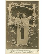 Edwardian New YEARS Children ORG c.1917 postcar... - $9.99