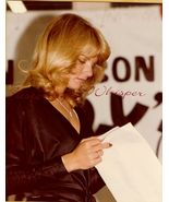 UNKNOWN Pretty BLONDE Reading SCRIPT ORG PHOTO ... - $9.99