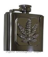 Pot Leaf Flask Belt Buckle - $18.00