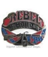 Rebel And Proud Of It Belt Buckle, New - $14.00