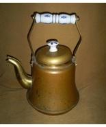 Vintage Tea Kettle With Delf Porcelain Handle, ... - $10.00