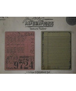 Tim Holtz Alterations Texture Fades Sizzix embo... - $12.99