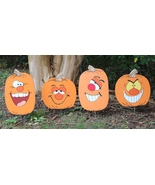 Set of 4, Silly Face Thanksgiving Pumpkins Yard... - $65.00