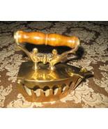 Vintage Brass Decorative Flat Iron - $28.35