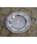 Vintage Wm. A. Rogers Silver Plate Round Tray  - $13.01