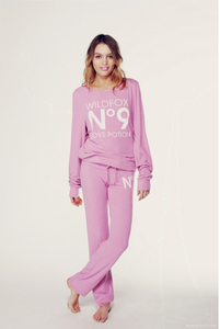 Wildfox Couture NO. 9 LOVE POTION Barbarella Pink Baggy Beach Jumper Small