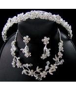 Swarovski Crystal Bridal Tiara Headband and Jew... - $129.99